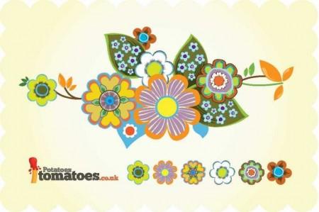 Retro-Flowers-450x299