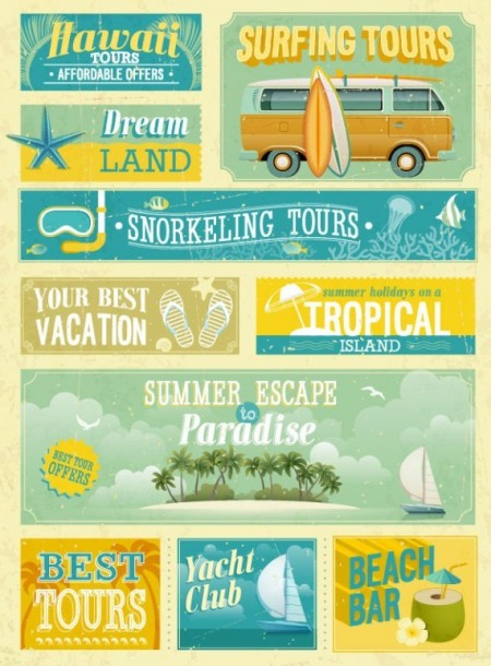 Retro-Holiday-Travel-Promotional-Poster-Vector