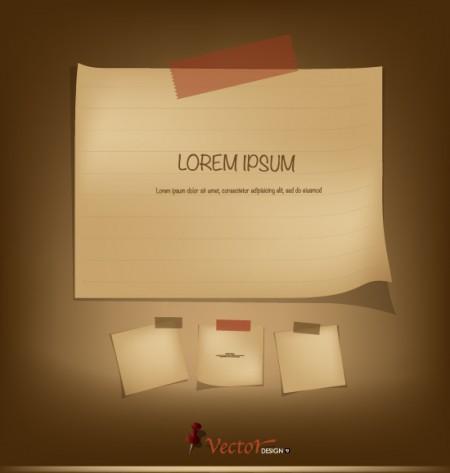 Retro paper labels vector 02