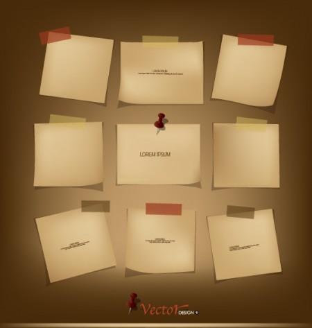 Retro paper labels vector 03