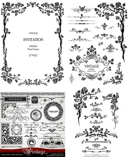 Retro.Pattern.Elements.Vector.Border-aiovector.com_-450x547