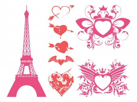 Romantic-Hearts-Vector-450x335