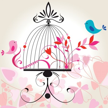Romantic cartoon hand painted illustrations 02 Vector