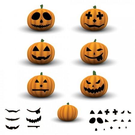 Scary-Halloween-Pumpkins-pack-450x450