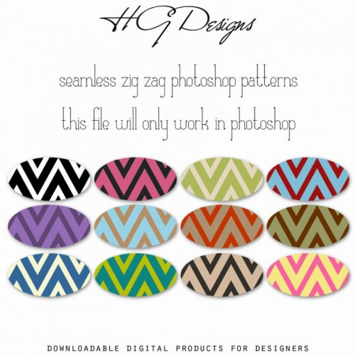 Seamless Zig Zag Photoshop Patterns by HGGraphicDesigns on DeviantArt