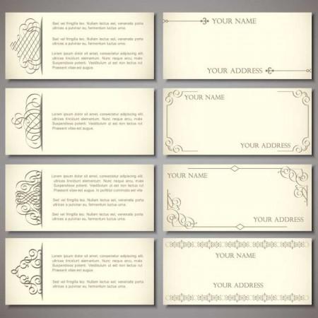 Set-of-Vintage-Business-card-design-vector-01-450x450