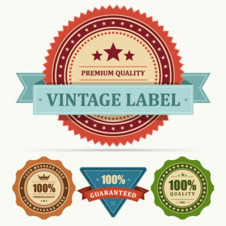 Set of Vintage Business labels vector 01