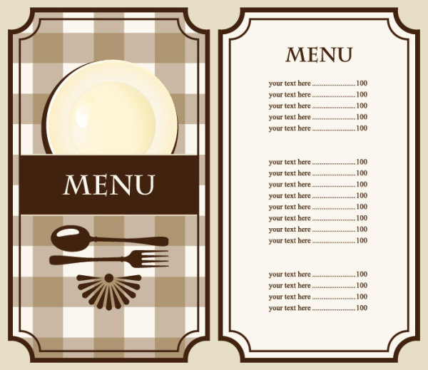 5 eps free style for Easy menu templates free
