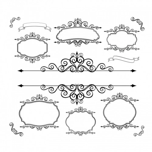 Simple-Black-Floral-Borders-and-Frames-Vector-02-500x500