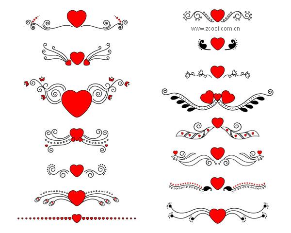 バレンタインに使いたいハートのクリップアートイラスト素材 Free
