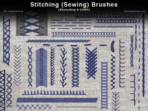 Stitching-Sewing-Photoshop-and-GIMP-Brushes-500x375