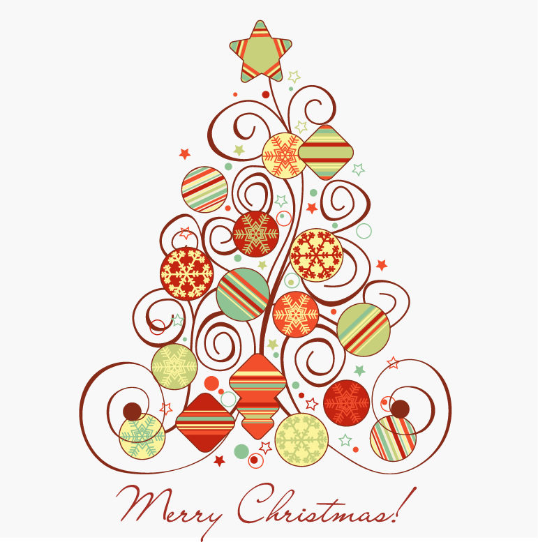 これは必見抽象的に描かれたオシャレなクリスマスツリー素材いろいろ
