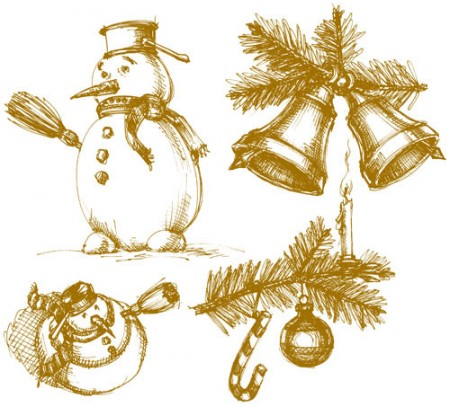 The-exquisite-Christmas-bells-Vector-05-450x407