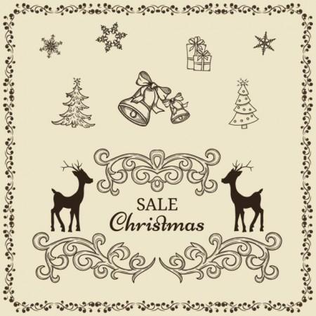 Various-Christmas-decor-elements-vecto-450x450