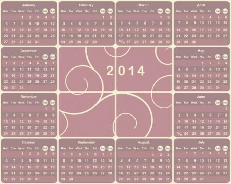 Vector-2014-European-calendar