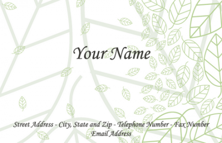 Vector-Business-Cards-Leaf-pv-by-DragonArt-450x290