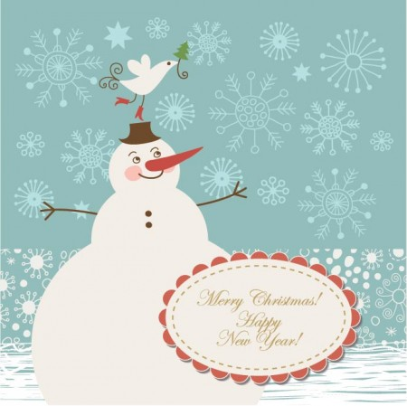 Vector-Christmas-Bird-invitation-card-450x449