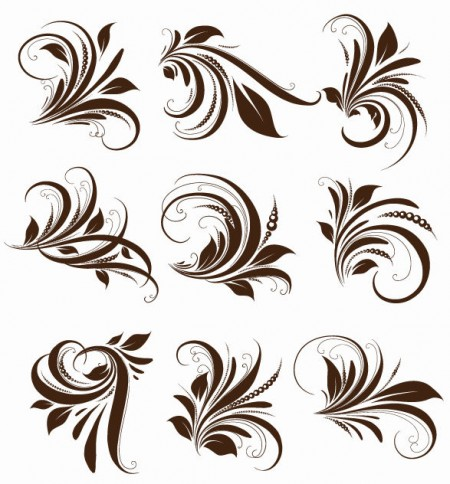 Vector-Floral-Elements-for-Design-450x484
