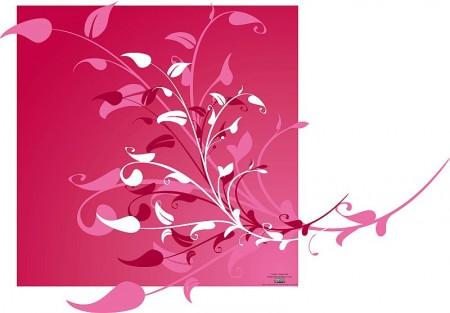 Vector-Flower-Decoration-Background-450x313