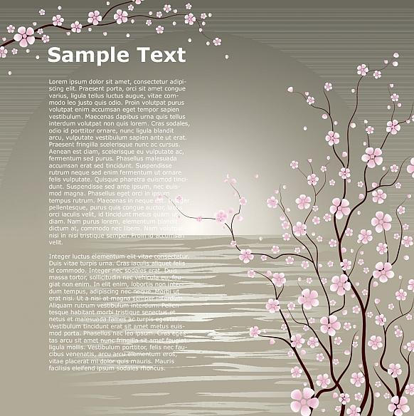桜の木がきれいな2種類の無料 ...