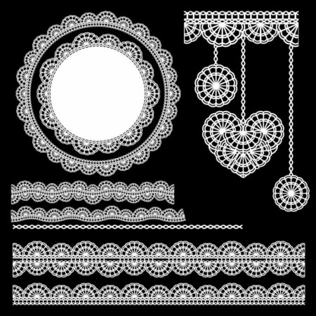 Vector-Lace-Ornaments-2-450x450