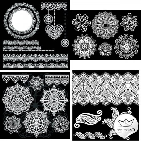 Vector-Lace-Ornaments-Set-450x450