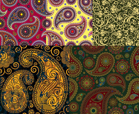 Vector Patterns Pattern Free Paisley
