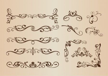 Vector-Set-of-Decorative-Elements-450x319