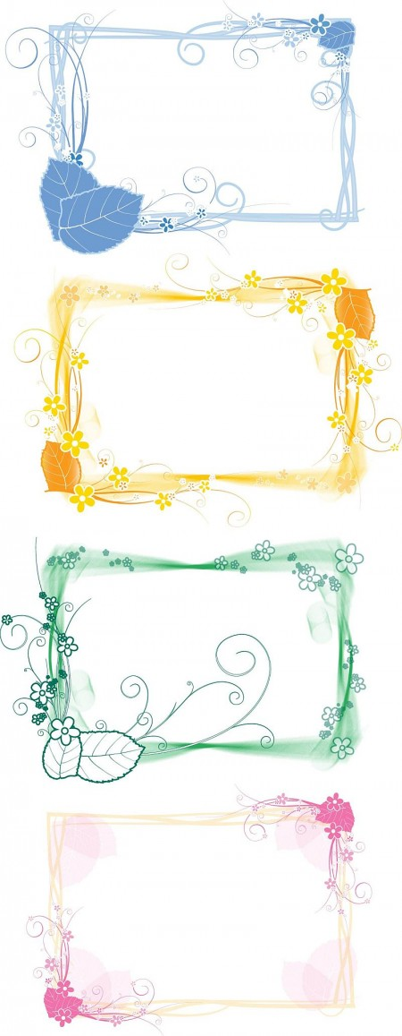 Vector-Set-of-Floral-Frames-450x1157