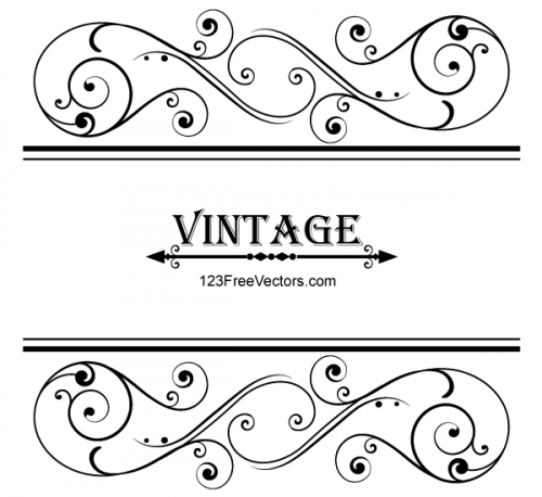 Vector-Vintage-Floral-Ornamental-Frame-Design