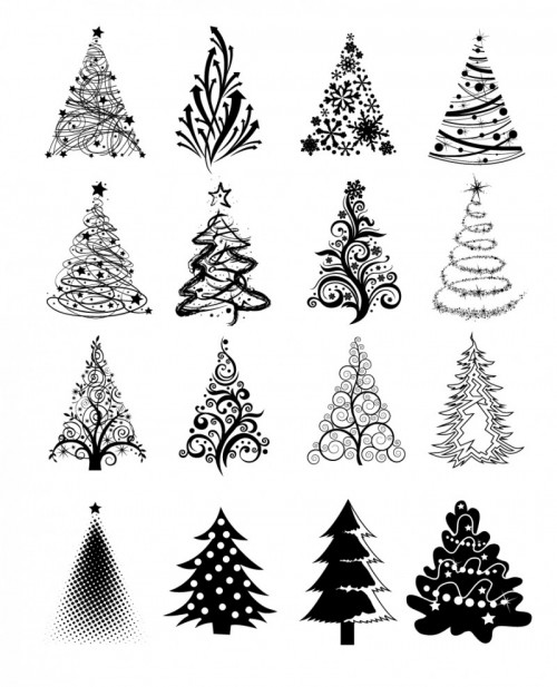 Vector Winter Tree