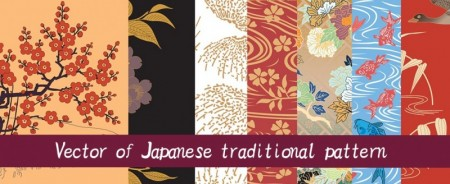 Vector of Japanese traditional pattern set