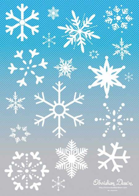 VectorArt1 Snow Graphics 2 450x636 雪の結晶(Snow crystal)をモチーフにしたイラスト素材いろいろ(vector)    Free Style