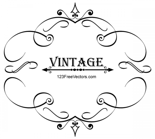 Vintage-Calligraphy-Frame-Vector-Graphics-500x450