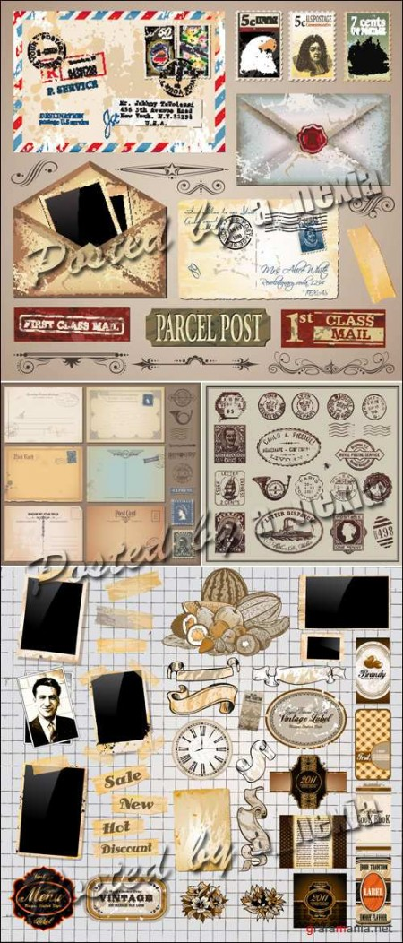 Vintage-Elements__Postcards_Vector-450x1052