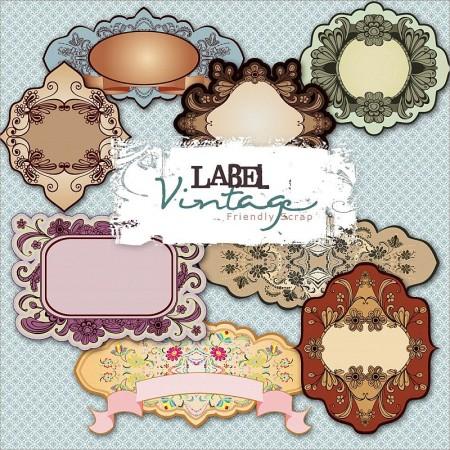 Vintage Labels1 450x450 無料コラージュ素材 ヴィンテージなラベル素材 豪華3セット   Free Style