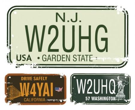 Vintage-License-Plates-Vector-Set-view-450x366