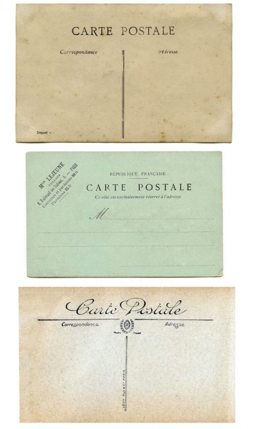 Vintage Printable - Blank Carte Postale - Postcard Backs - The Graphics Fairy