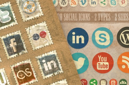 Vintage-Social -Icons