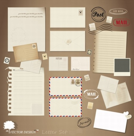 Vintage-Stationery-Stamp-and-Envelope-free-Vector-42-450x456