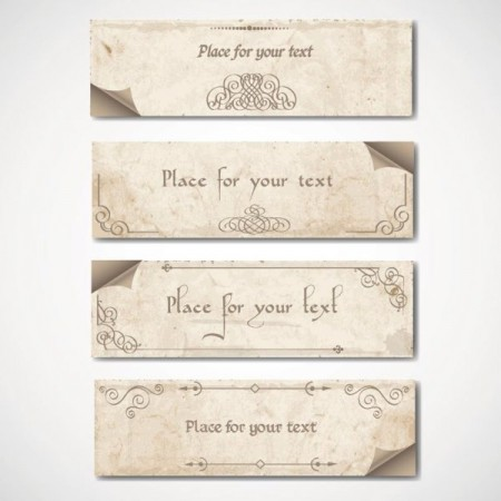 Vintage-elements-of-banner-vector-02-450x450