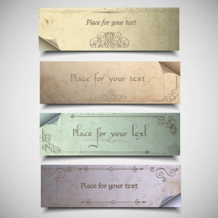 Vintage-elements-of-banner-vector-04-450x450