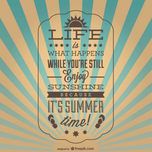 Vintage inspirational summer poster Vecto