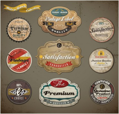 Vintage-ribbons-labels-and-Stickers-vector-01-450x434