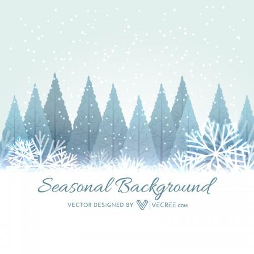 Winter Seasonal Background Free Vector