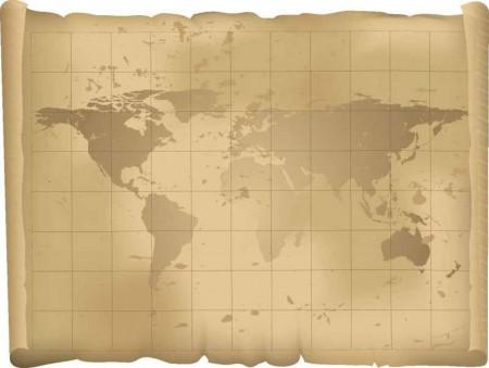 ancient world map 450x339 ヴィンテージな地図の無料素材いろいろ(VECTOR・PSD・ABRなど)   Free Style