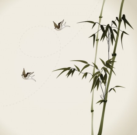 bamboo-branches-vectorized-oriental-style-brush-painting1-450x443