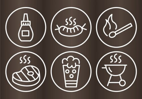 bbq-grill-outline-icons-vector