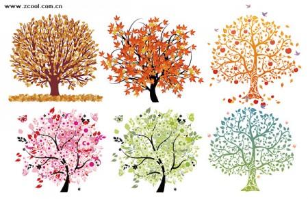 beautiful tree vector material
