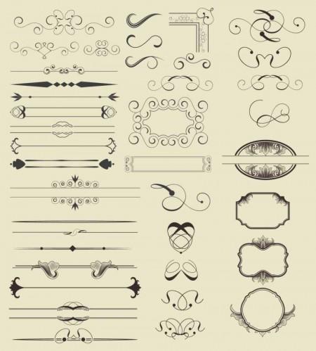 calligraphic-elements-mega-collection-450x499